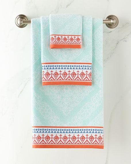 John Robshaw Mitta Seaglass Hand Towel