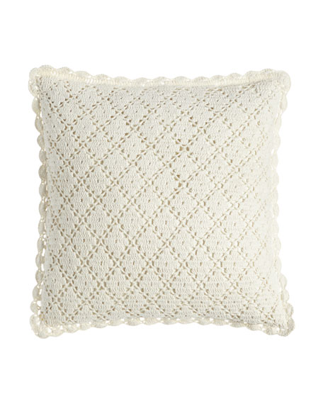 Pine Cone Hill Lorient Crochet Pillow, 20