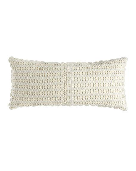 """Marigot Crochet Double Boudoir Pillow, 15"""" x 35"""""""