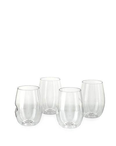 Four Shatterproof Wine Glasses, 16 oz.
