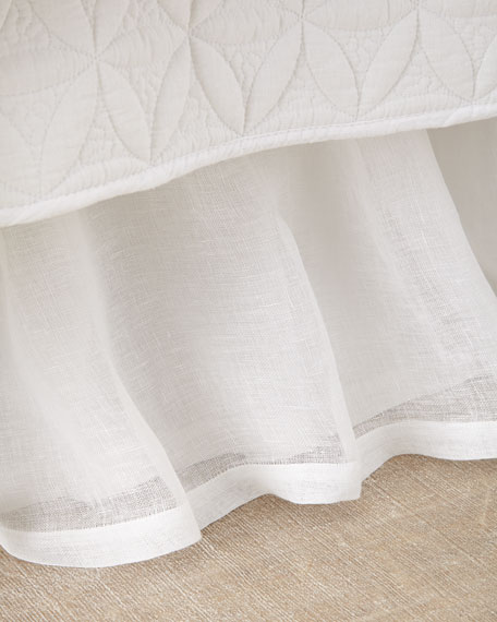 Queen Linen Voile Dust Skirt