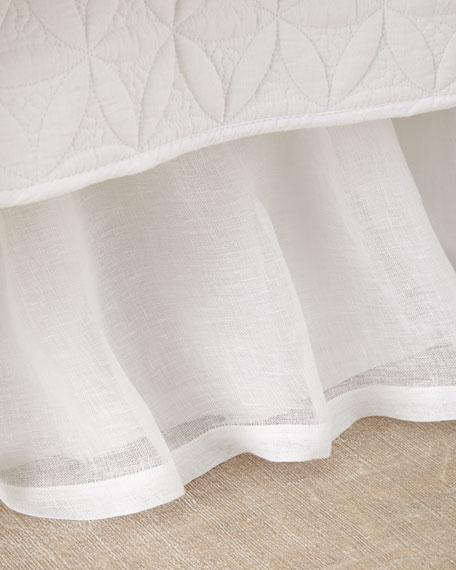 Queen Linen Voile Dust Skirt