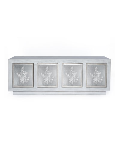 Prudence Silver Leaf Console