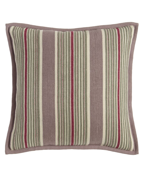 "Northward Stripe Pillow, 18""Sq."