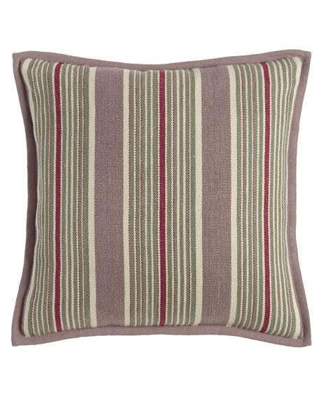 "Northward Stripe Pillow, 18""Sq."