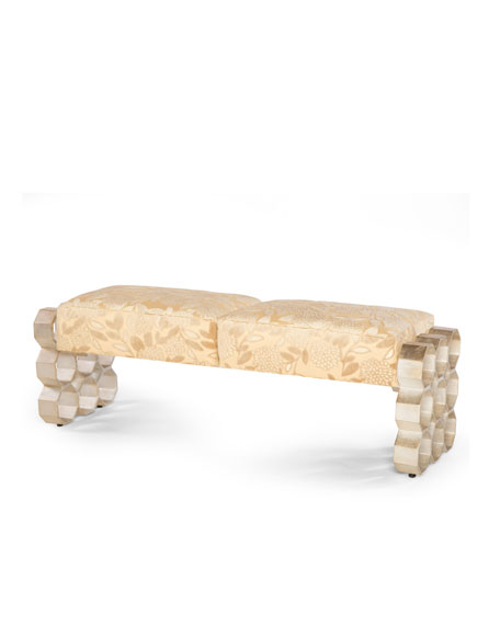 Badgley Mischka Home Macario Bench