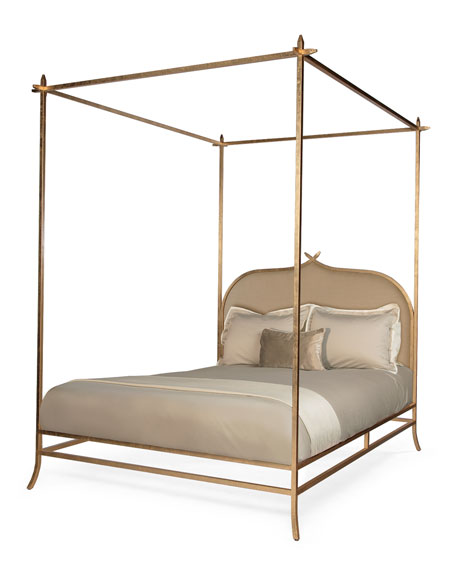 Ilsa Gold Poster Bed, King