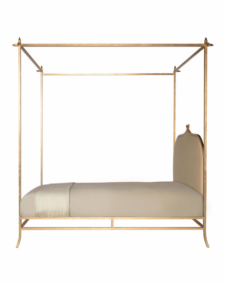 Ilsa Gold Poster Bed, Queen