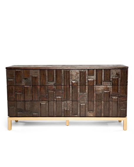 Badgley Mischka Home Chocolate Truffle Dresser