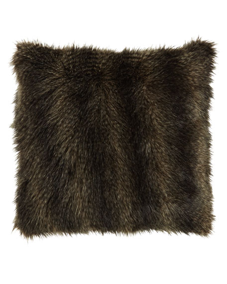 "Mogli Minx Faux-Fur Pillow, 24""Sq."