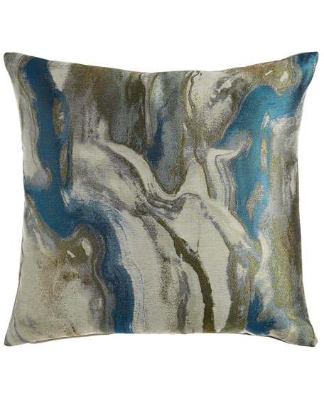 "Dixon Marbled Pillow, 22""Sq."