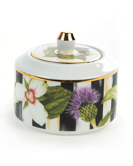 MacKenzie-Childs Thistle & Bee Sugar Bowl