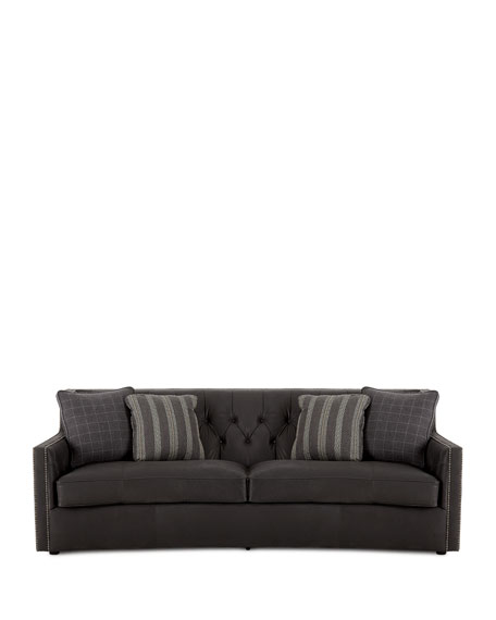 Bernhardt madeline tufted leather sofa for Bernhardt leather sectional sofa prices