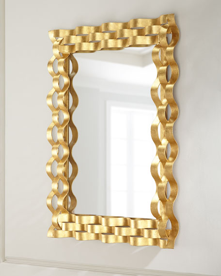 Wave Den Gold-Leaf Mirror
