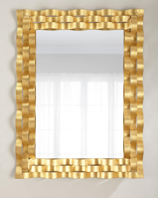Wave Den Gold Leaf Mirror Neiman Marcus