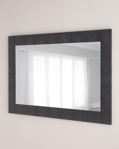 Faux-Shagreen Mirror