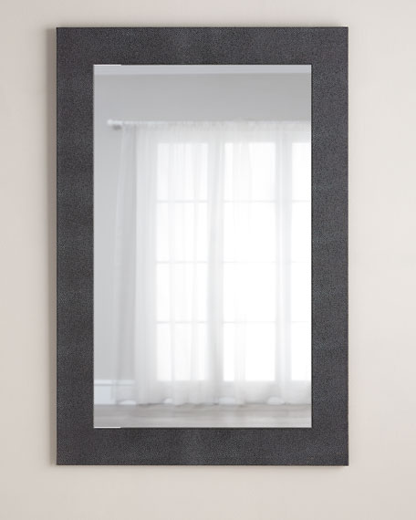 Faux-Shagreen Mirror