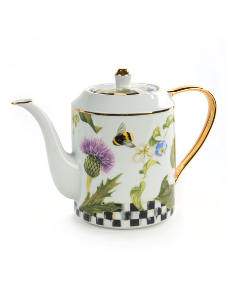 MacKenzie-Childs Thistle & Bee Teapot