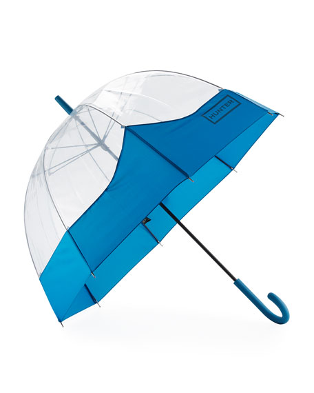 Hunter Boot Original Moustache Bubble Umbrella, Ocean Blue