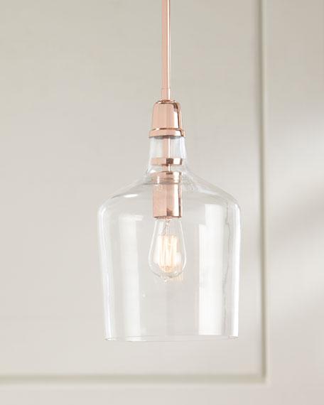 Copper and Glass Pendant