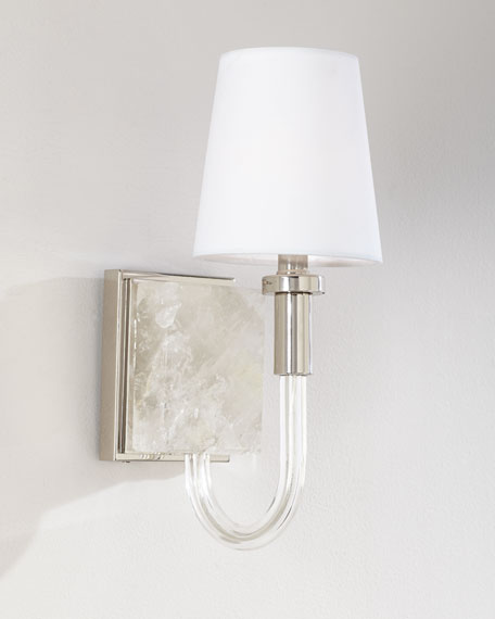 Quartz and Acrylic Sconce