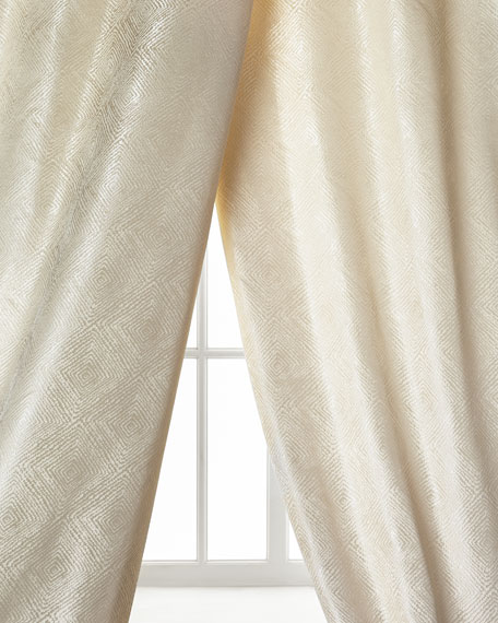 Dian Austin Couture Home Polygon Curtain, Ivory, 108