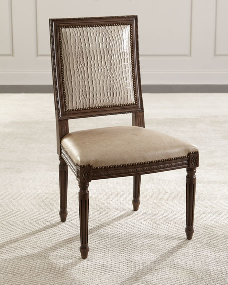 Louis Leather Dining Chair