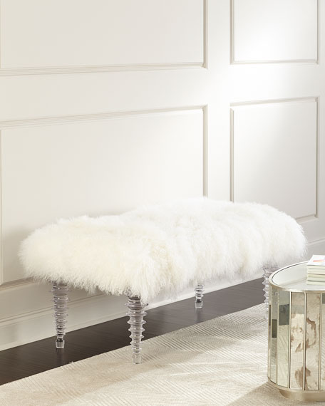 Kizzy Tibetan Sheepskin Bench