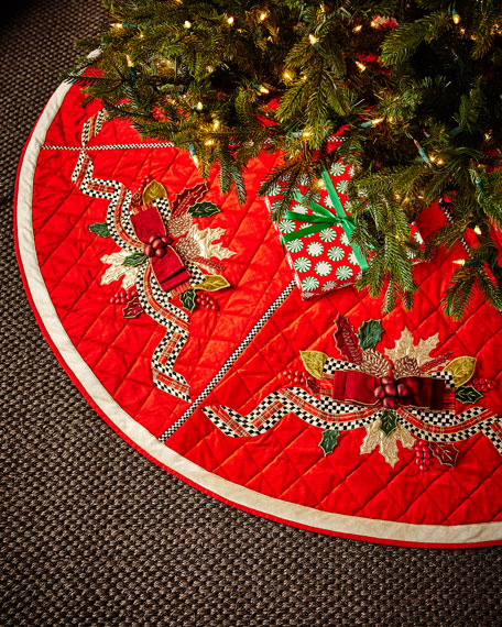 MacKenzie-Childs Tartan Frost Tree Skirt
