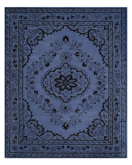 Jaycee Purple Hand-Tufted Rug, 6' Round