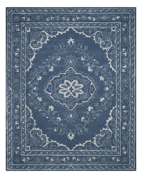 Jaycee Blue Hand-Tufted Rug, 4' x 6'