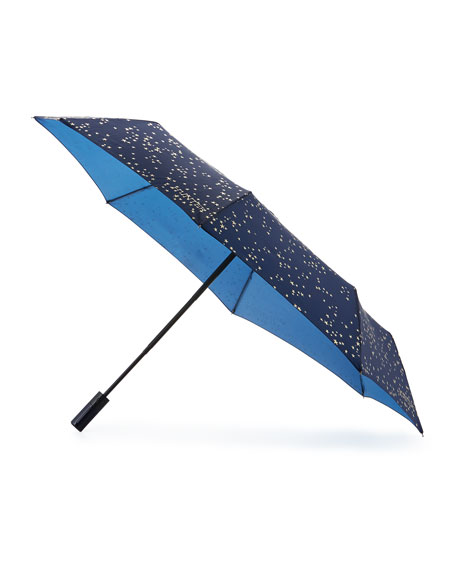 Hunter Boot Glitter Constellation Automatic Compact Umbrella