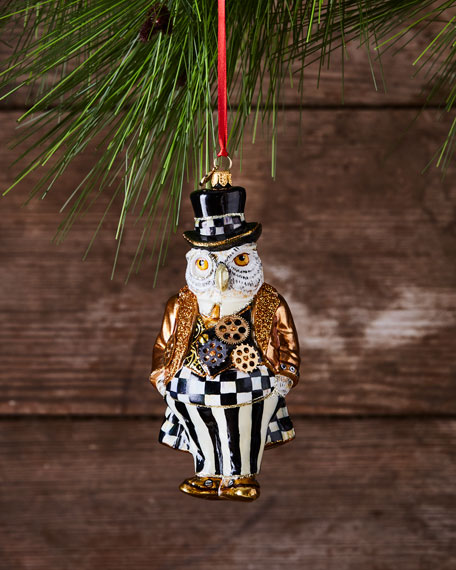 Steampunk Mr. Fowler Glass Ornament