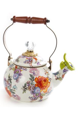 MacKenzie-Childs Flower Market Whistling Tea Kettle