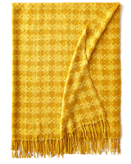 MacKenzie-Childs Houndstooth Throw, Gold