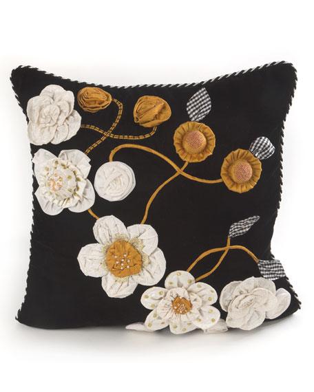 MacKenzie-Childs Gardenia Square Pillow