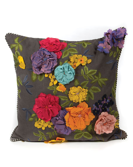 MacKenzie-Childs Covent Garden Floral Pillow