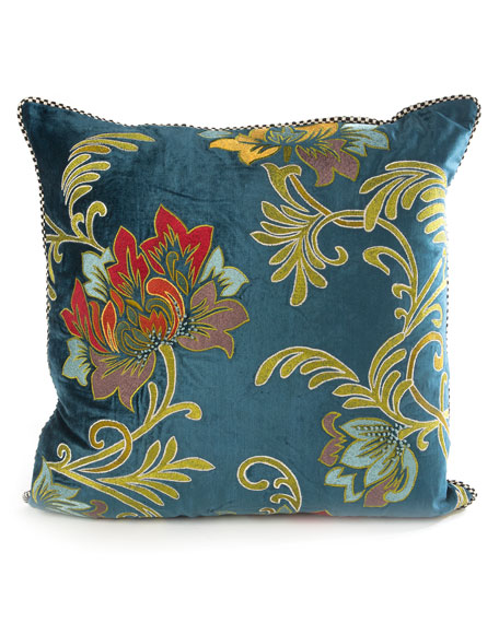 MacKenzie-Childs Aberdeen Floral Pillow