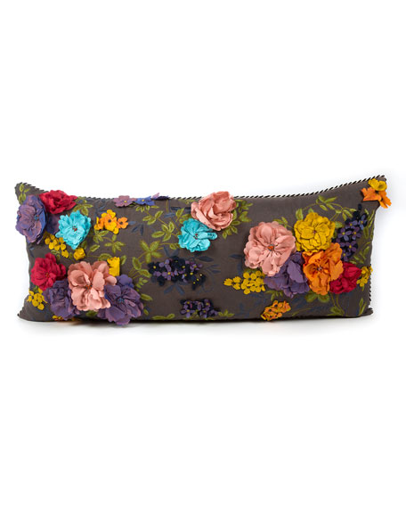 MacKenzie-Childs Covent Garden Floral Lumbar Pillow
