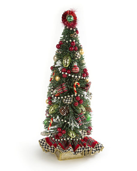 MacKenzie-Childs Highland Nostalgia Small Tabletop Christmas Tree