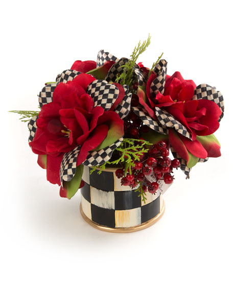MacKenzie-Childs Courtly Check Rose Accent Bouquet
