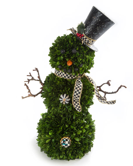 MacKenzie-Childs Snowman Topiary