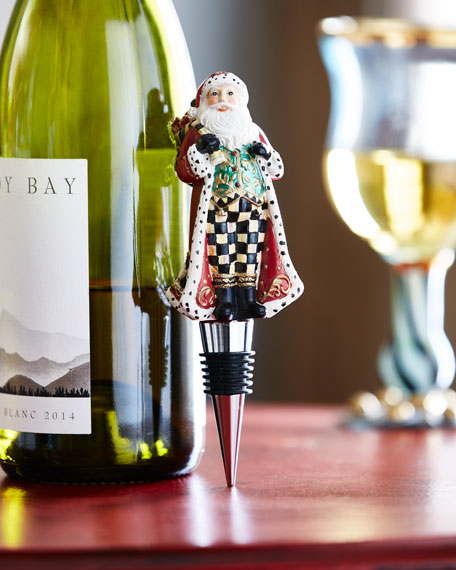 MacKenzie-Childs Highland Santa Bottle Stopper