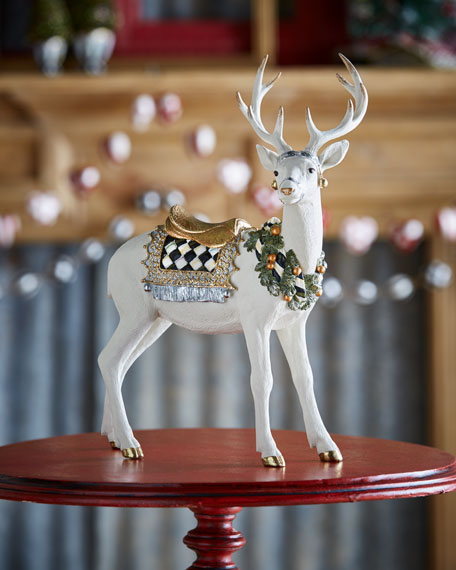 Mackenzie Childs Standing Winter White Stag Neiman Marcus
