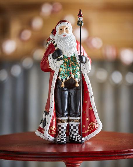 MacKenzie-Childs Holly Father Christmas Figurine, 12.5