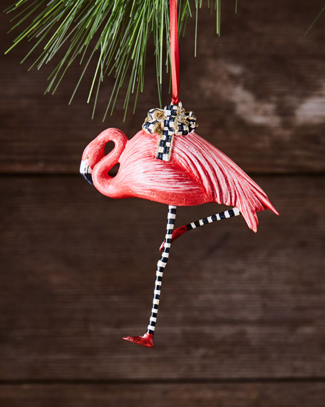 Wonderland Flamingo Christmas Ornament