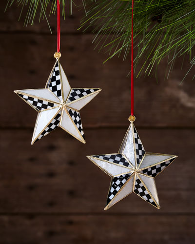 Star Bright Ornaments, Set of 2