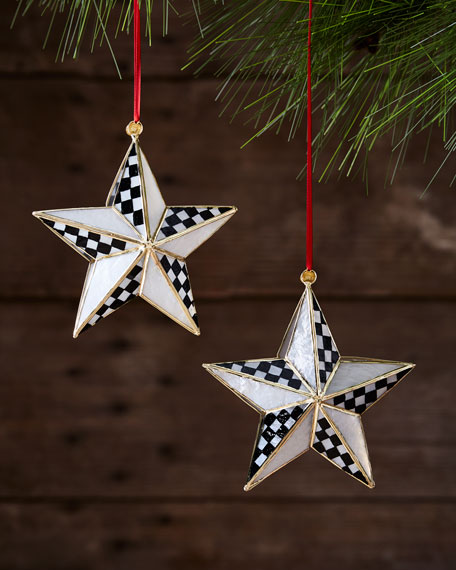 Star Bright Ornaments, Set of 2