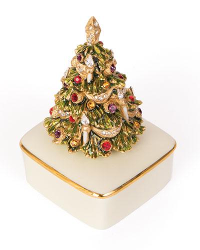 Porcelain Christmas Tree Box