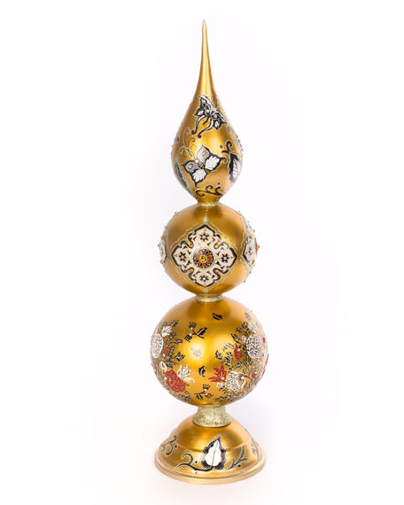 Jay Strongwater Triple Artisan Golden Finial